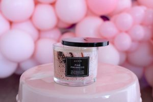 Avon Pink Prosecco Candle