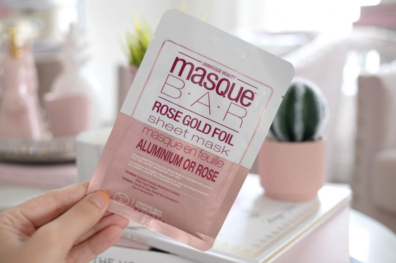 MasqueBAR Rose Gold Foil Sheet Mask