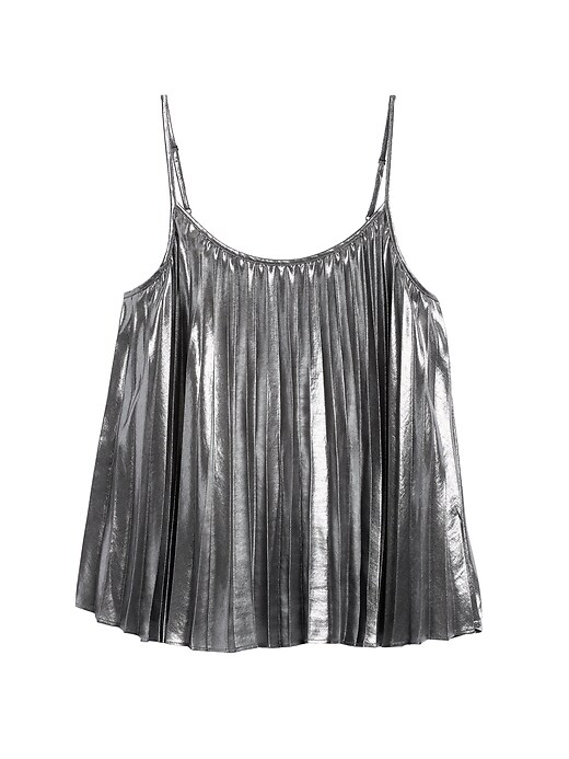 Metallic Pleated Camisole