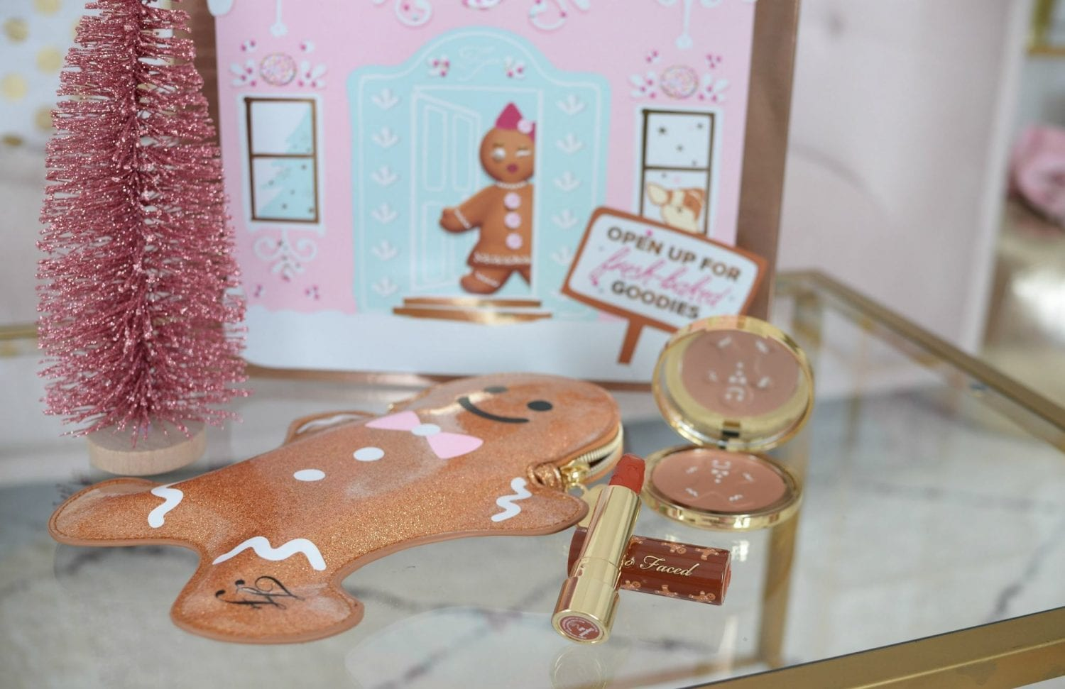 too faced Gingerbread Bronzed & Kissed Bronzer & Lipstick Set