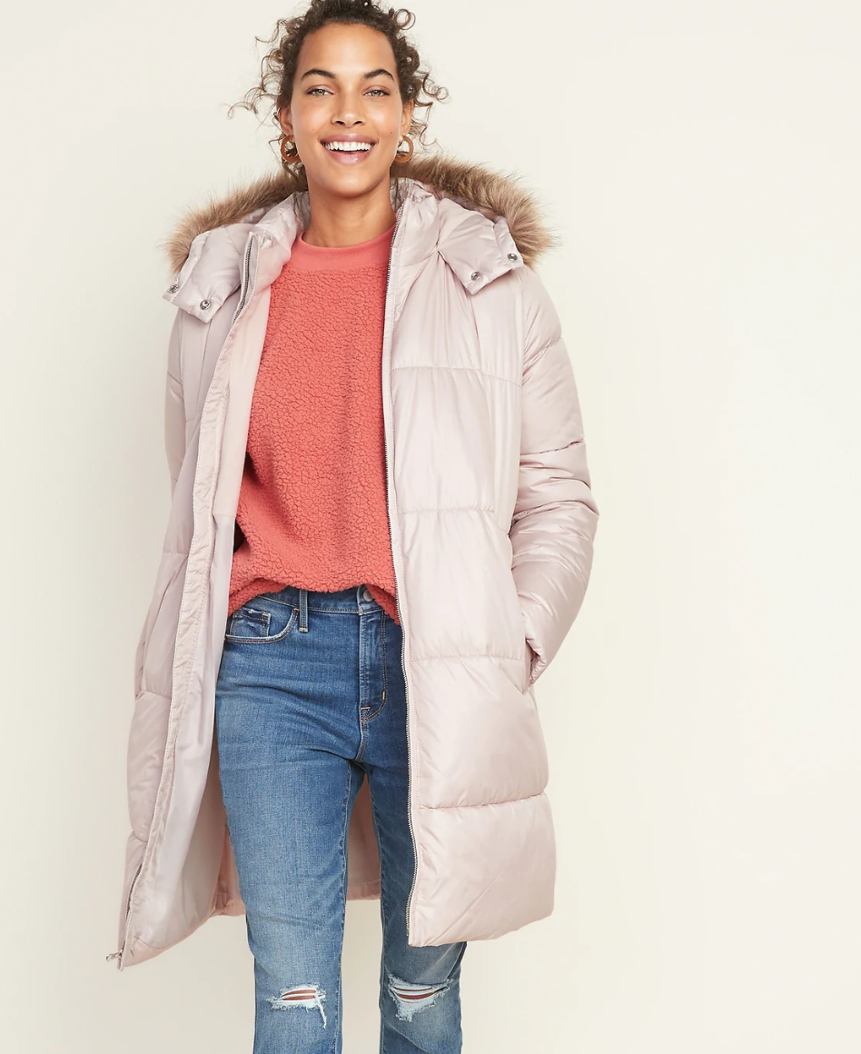 Old Navy's Hooded Frost-Free Long-Line Puffer Jacket