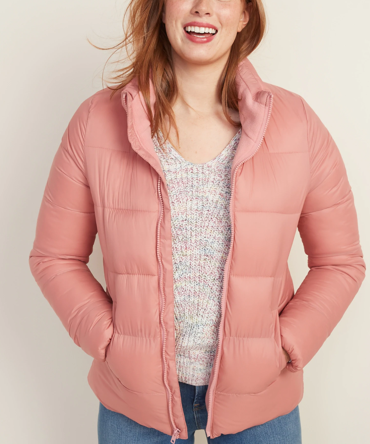 Old Navy Frost-Free Puffer Jacket in Dawn Light