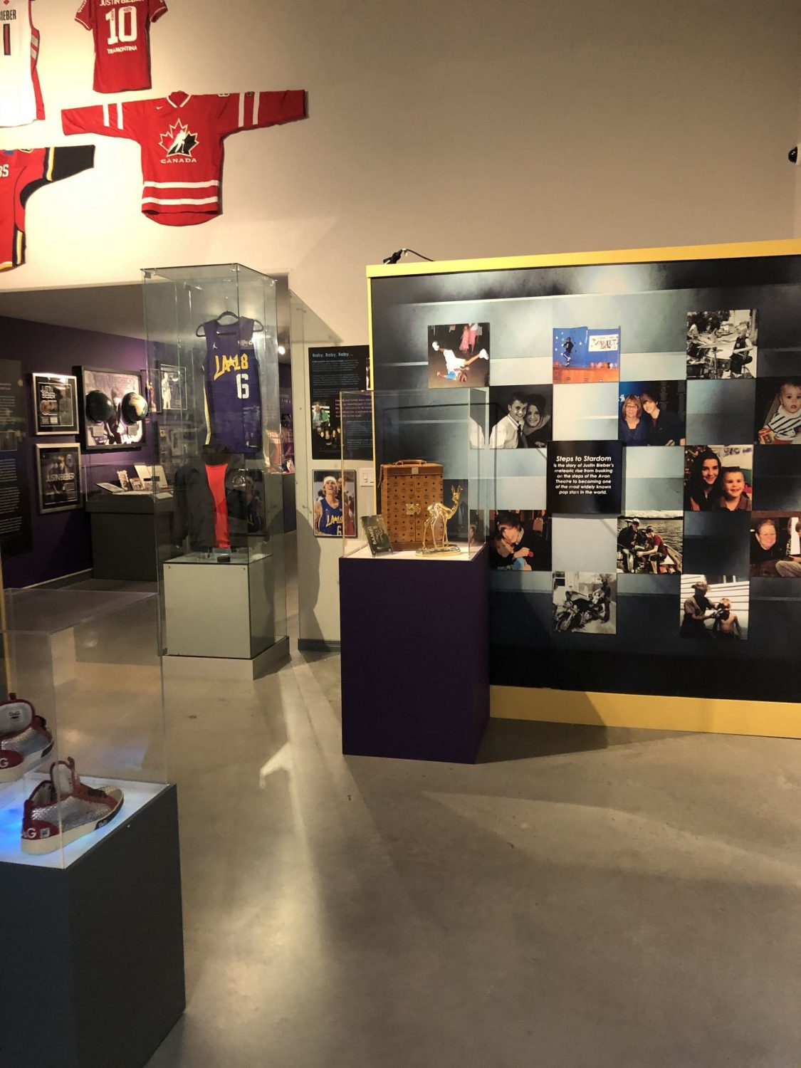 Justin Bieber: Steps to Stardom exhibit